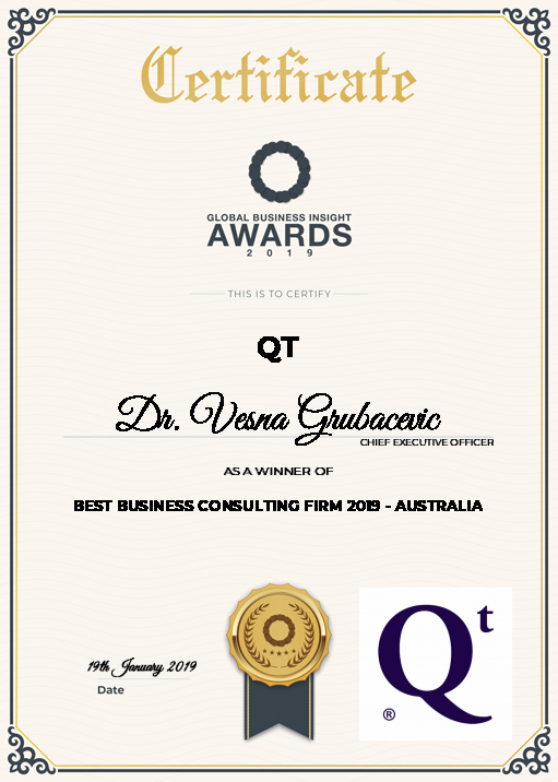 Qt global business award